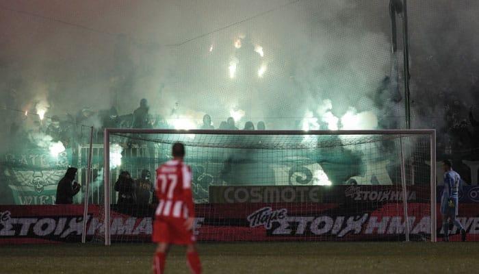 Violence mars Greek derby, player hit