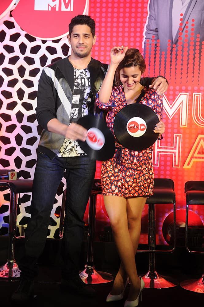 Siddharth Malhotra and Alia Bhatt during an event in Mumbai.- DNA