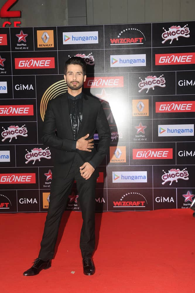 Shahid Kapur during the 5th edition of the GiMA Awards in Mumbai. -DNA