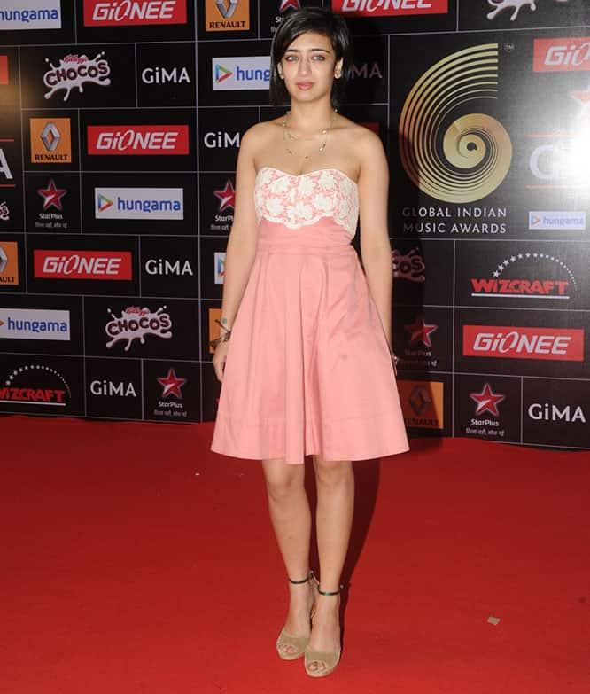 Akshara Hassan during the 5th edition of the GiMA Awards in Mumbai. -DNA