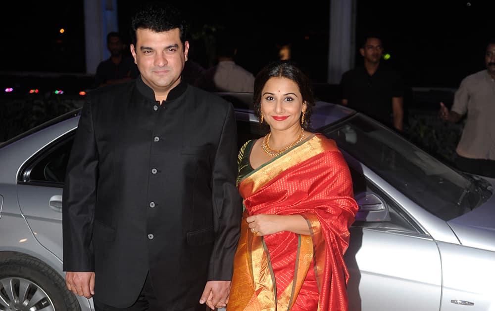 Siddharth Roy Kapoor and Vidya Balan during the wedding ceremony of Tulsi Kumar and Hitesh in Mumbai. DNA