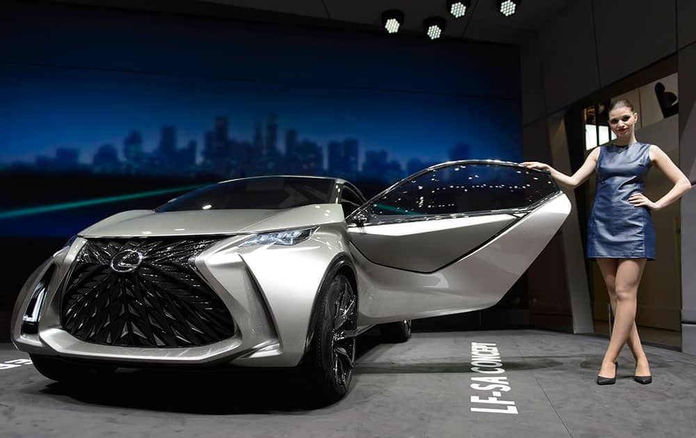 The New Lexus City Car Concept is on display during the second press day at the Geneva International Motor Show.