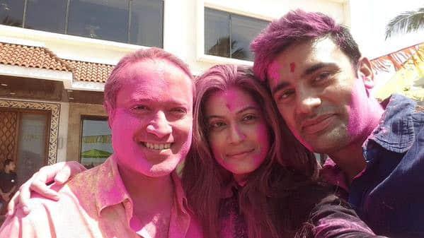 SANGRAM U SINGH : #HappyHoli with @Payal_Rohatgi & nice human being @vineetjaintimes . Enjoyed the party. God bless all  - Twitter