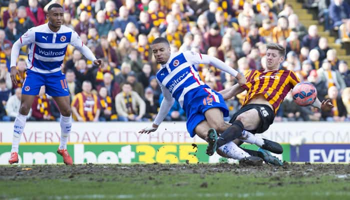 Reading take Bradford to FA Cup replay
