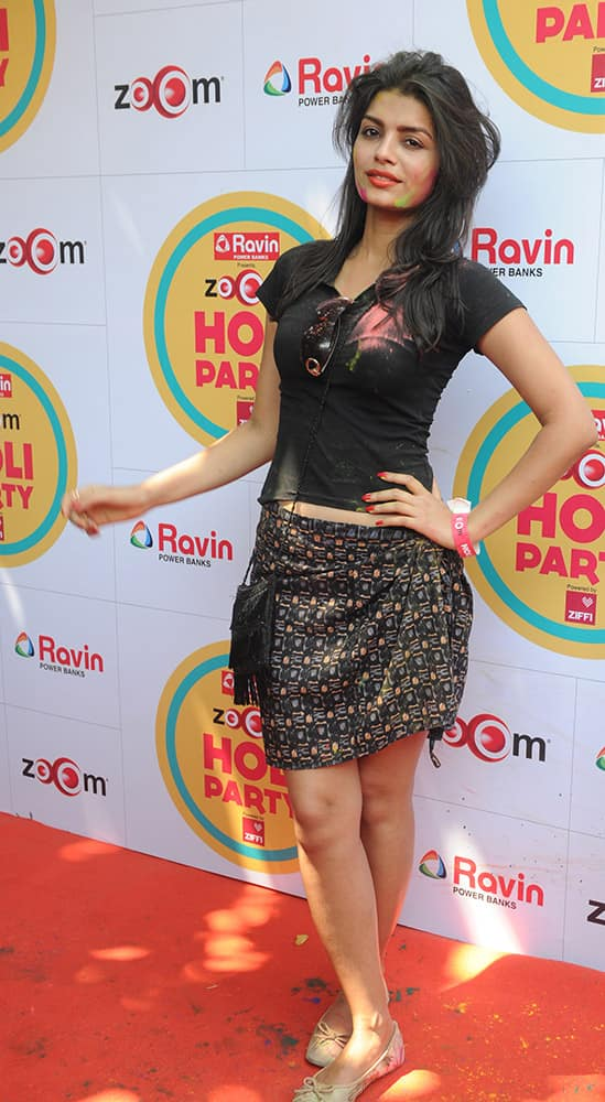 Sonali Raut during the Zoom Holi celebration in Mumbai. DNA