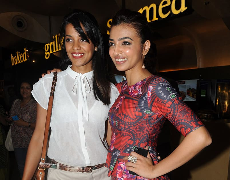 Mugdha Godse and Radhika Apte during the premiere of film Hunterrr in Mumbai.- DNA