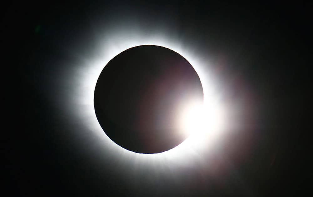 The total solar eclipse seen from Svalbard, Norway.