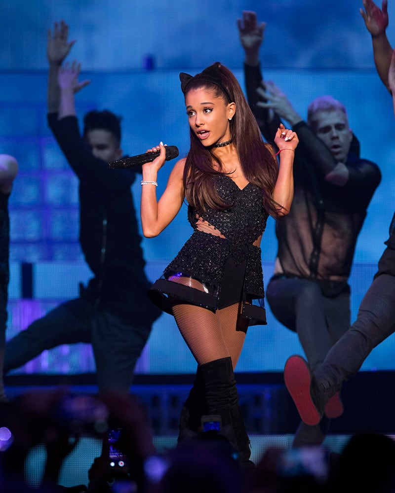Singer Ariana Grande performs at Madison Square Garden, in New York.