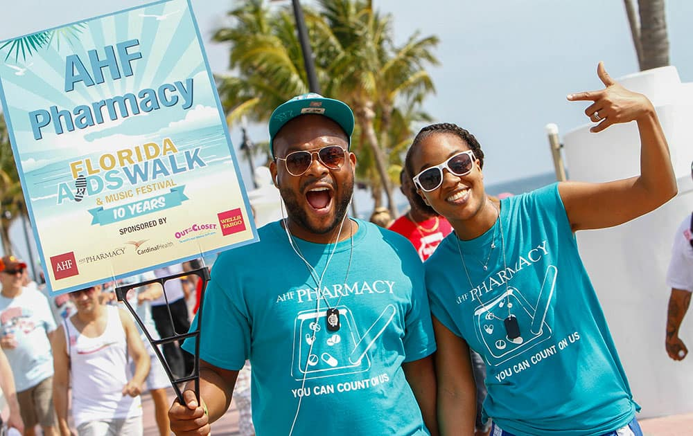 Participants from numerous local AIDS service organizations came together to support those living with HIV, while commemorating those lost to the disease at Florida AIDS Walk & Music Festival, in Fort Lauderdale, Florida.
