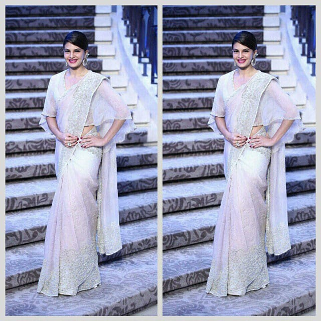 Jacqueline Fernandez sizzles for Anamika Khanna Fashion show at Lakme Fashion Show 2015. -instagram