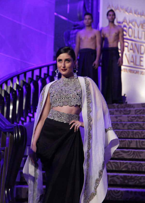 Kareena Kapoor Khan :- Kareena walked the ramp for Anamika Khanna at Lakme Fashion Week last night. -twitter