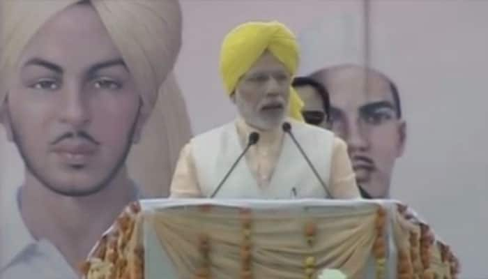 PM Modi at Martyrs' Day function in Punjab.
