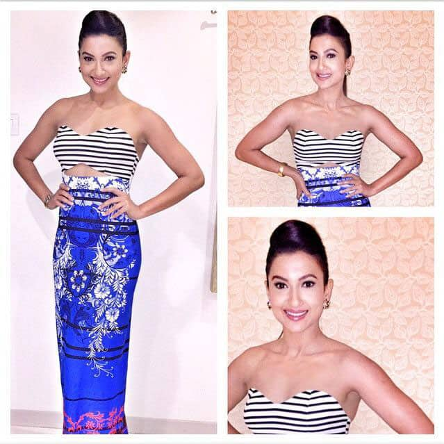 The Lovely @GAUAHAR_KHAN in @kenferns at the red carpet of #LPFWA2015  -twitter