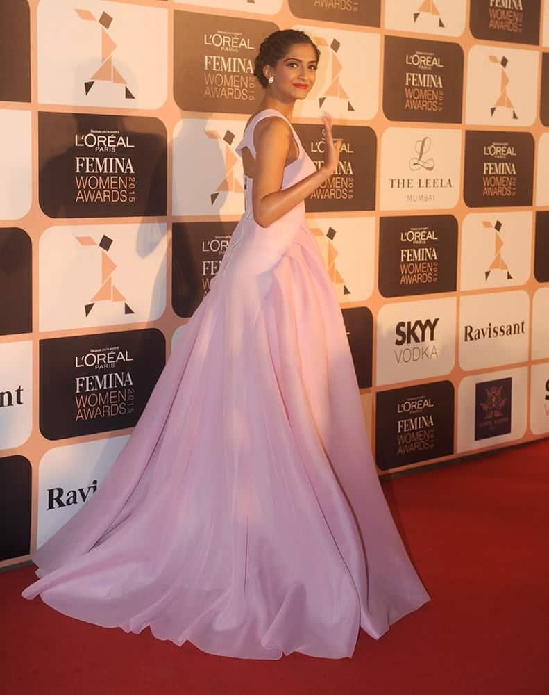 Sonam Kapoor during the L'Oreal Paris Femina Women Awards 2015 in Mumbai. DNA