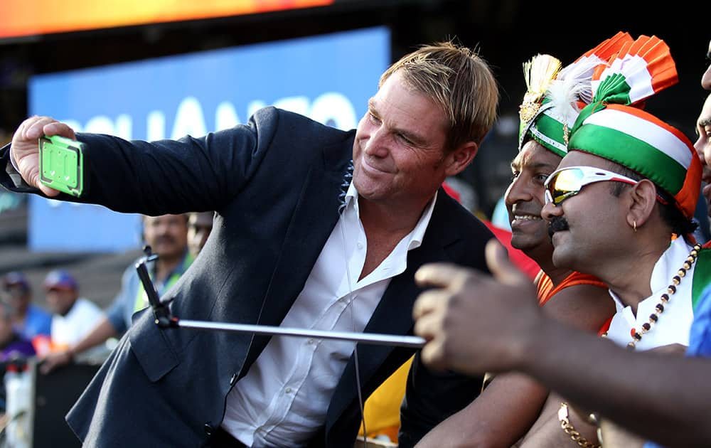 Former Australian cricketer Shane Warne takes a