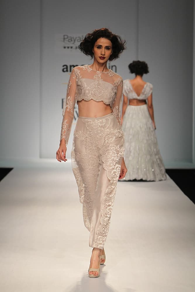 Payal Singhal Collection at Amazon Indian Fashion Week 2015.