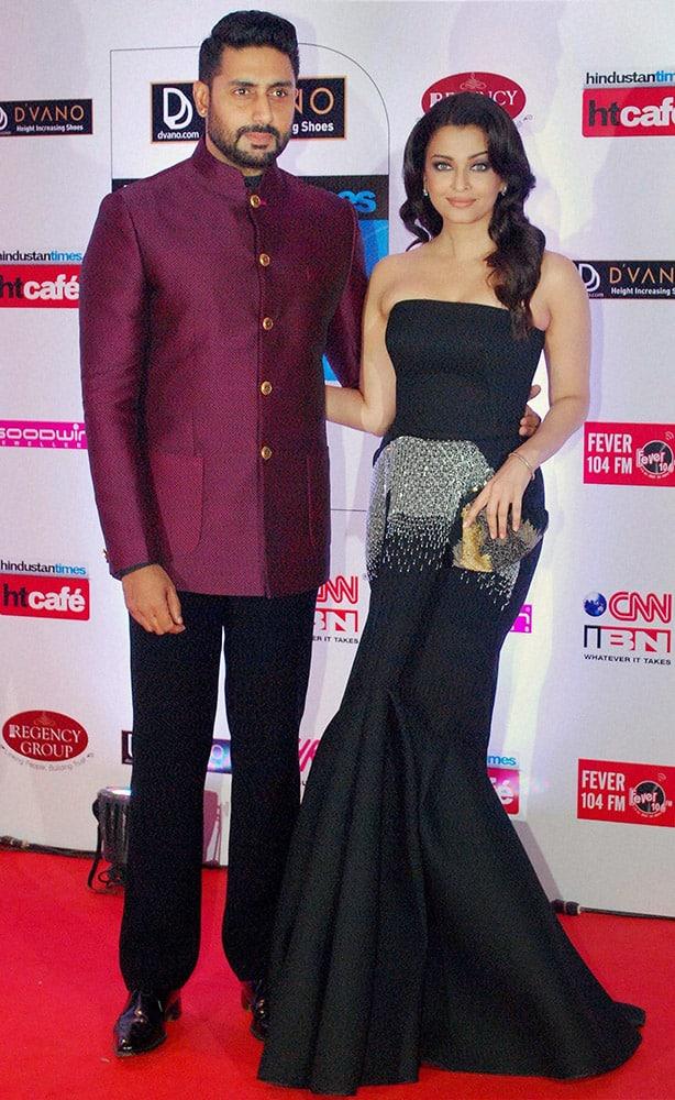 Abhishek Bachchan and Aishwarya Rai Bachchan during the Stylish Awards, in Mumbai.