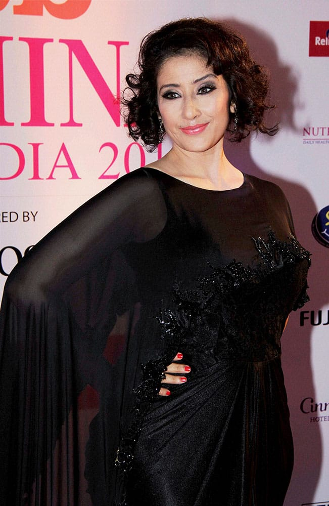 Bollywood actress Manisha Koirala at the Grand Finale of Femina Miss India, in Mumbai.