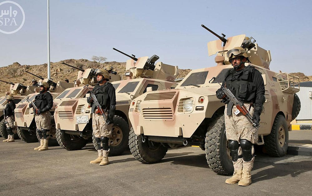 Royal Saudi Land Forces and units of Special Forces of the Pakistani army take part in a joint military exercise called