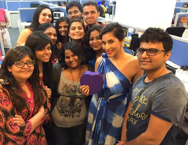 Big hug & Tku to @TusharrJoshi & @bollywood_life for a super fun, crazy aftn! I even let out some of my secrets! - Twitter@Sophie_Choudry