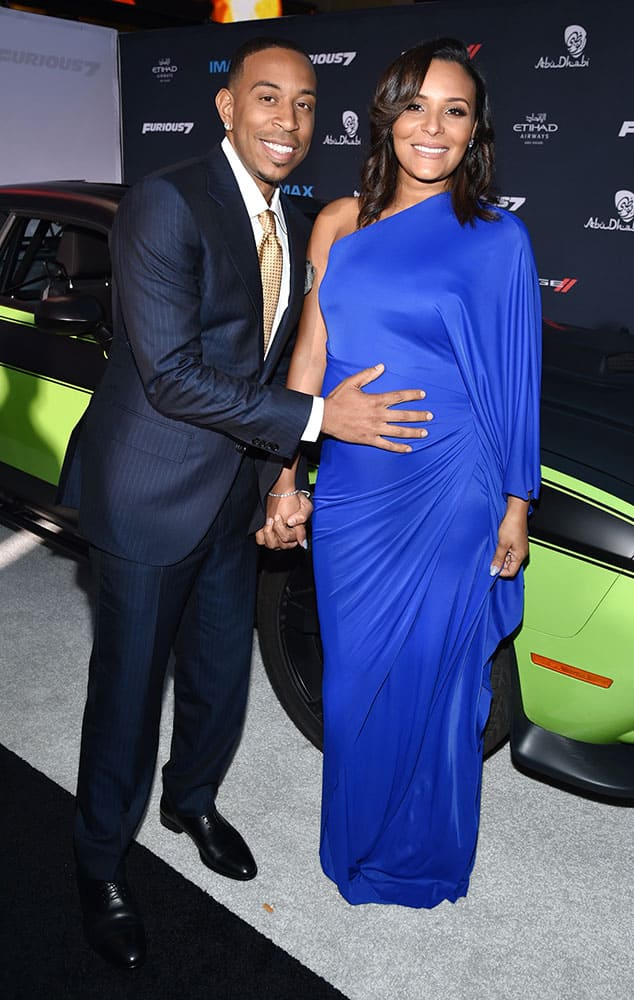 Ludacris, left, and Eudoxie Agnan arrive at the premiere of