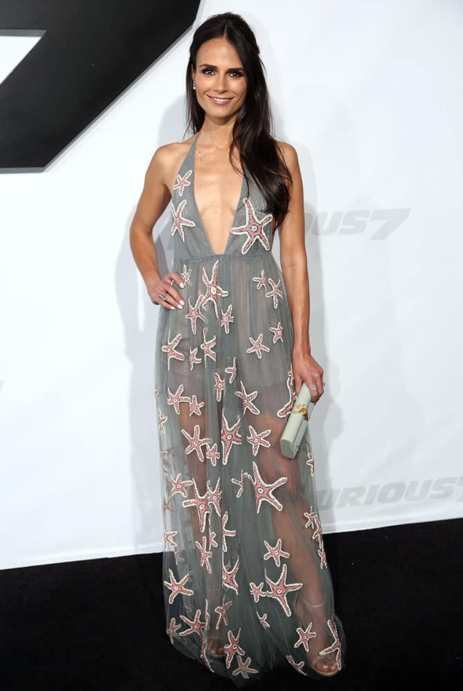Jordana Brewster arrives at the premiere of