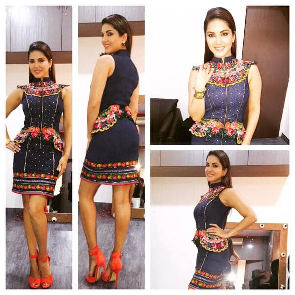 Thanks so much @Neha_Agarwal1 for my amazing dress today!! Love love love it!! Styled by @hitendra1480 - Twitter@SunnyLeone