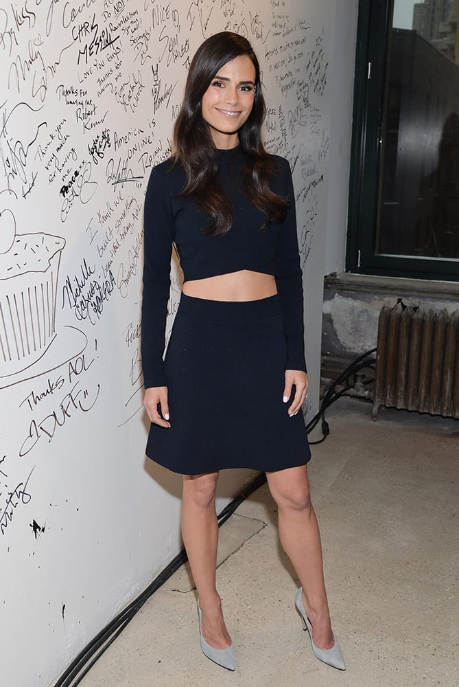 Actress Jordana Brewster participates in AOL's BUILD Speaker Series to discuss her recurring role in the 'Fast & Furious' film franchise at AOL Studios, in New York.