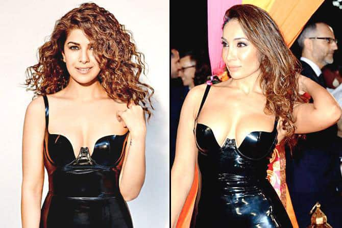 Sofia Hayat dress copied by Nimrat Kaur who is on GQ magazine. -twitter