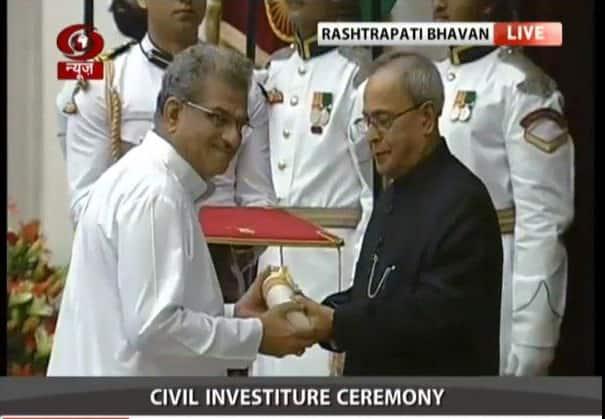Civil Investiture ceremony: Dr. D #VeerendraHeggade also gets #PadmaVibhushan - twitter@DDNewsLive