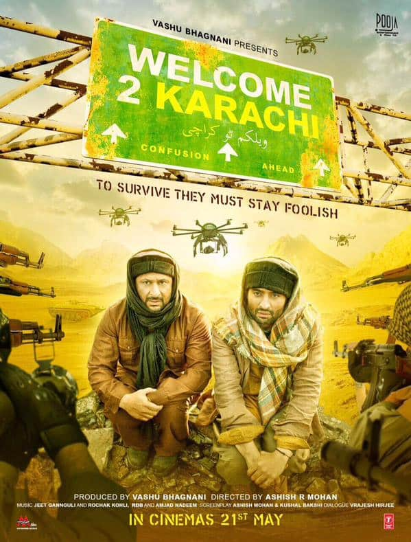First look poster of #Welcome2Karachi. Film releases 21 May 2015... - twitter@taran_adarsh