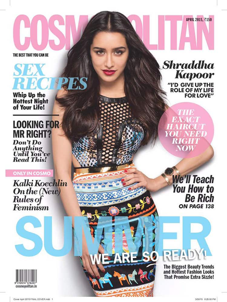 Shraddha Kapoor :- On this months @CosmoIndia :) Finally got to shoot with the genius @prasadnaik24 & my lovely girl @shraddhastyles :D -twitter
