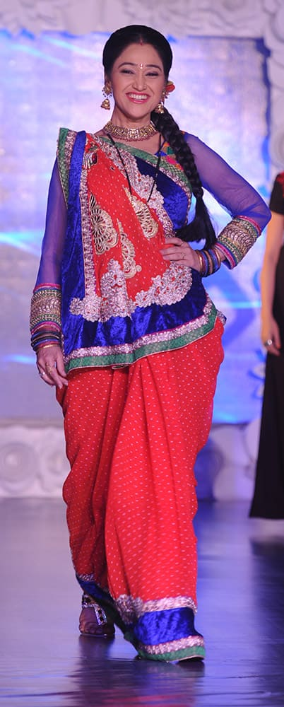 Disha Wakani walks the ramp at a fashion show organised for the cause of stopping girl child abuse, in collaboration with NGO Beti in Mumbai. DNA