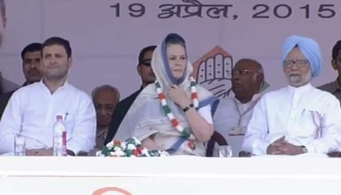 Rahul, Sonia address Kisan rally: As it happened