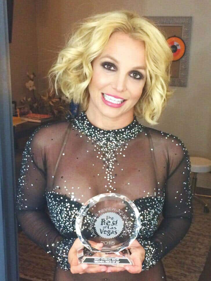 Britney Spears :- Look what I got over the weekend! Thank you @BestOfLasVegas, my dedicated team & POM crew, @phvegas, and all of YOU! -twitter