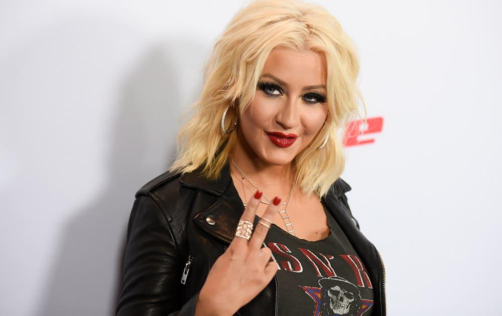 Christina Aguilera arrives at Season 8 of