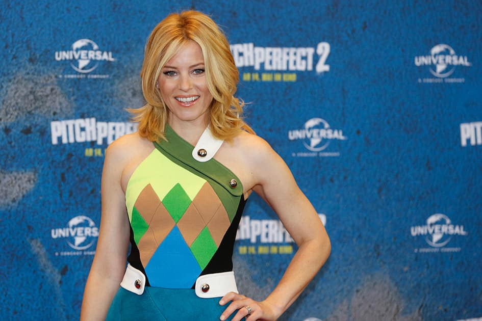 Director and actress Elizabeth Banks poses for media during a photo call to promote the movie 'Pitch Perfect 2' in Berlin, Germany.