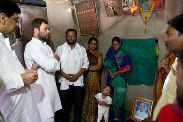Congress vice president Rahul Gandhi undertook a 15-kilometre, day-long 'sanvad padyatra' in Maharashtra's Amravati district on Thursday. He met distressed farmers and listened to their problems as he walked from village to village in the Vidarbha region. - Twitter@INCIndia