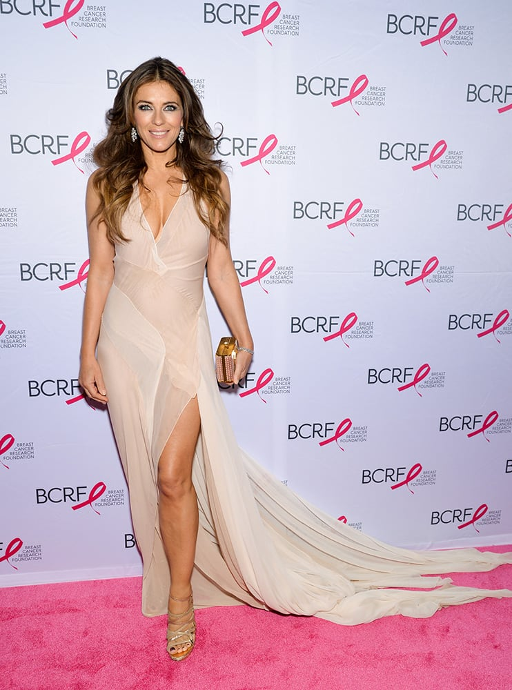 Actress Elizabeth Hurley attends the Breast Cancer Research Foundation's Hot Pink Party honoring Leonard A. Lauder at The Waldorf Astoria Hotel, in New York.