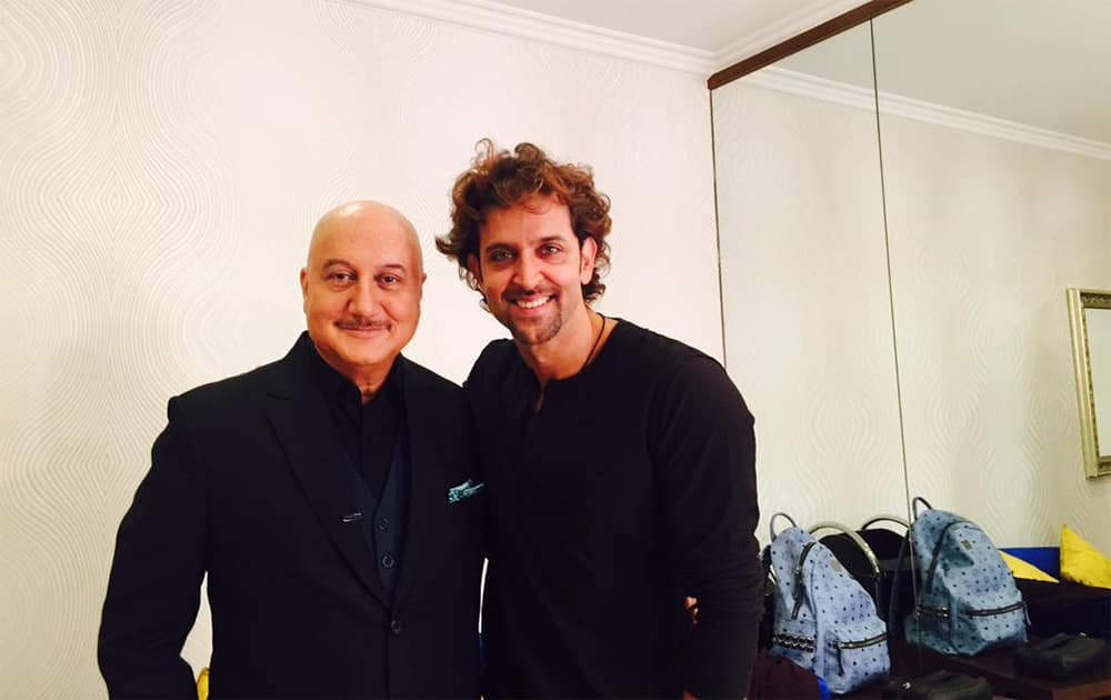 When you meet someone who looks like @iHrithik you suddenly discovered God has been a little unkind to you.:)  Twitter@AnupamPkher
