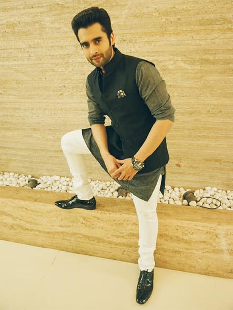 @jackkybhagnani strikes a pose before heading out to an event last night.