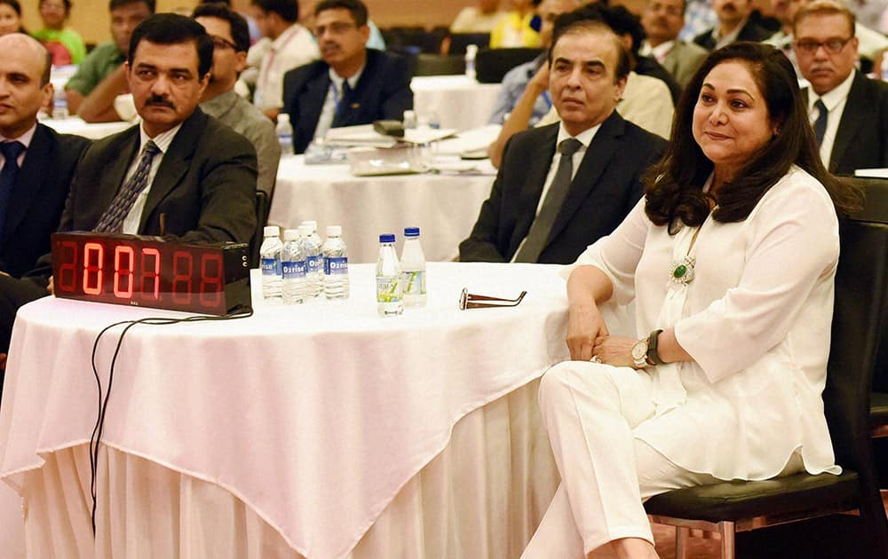Kokilaben Dhirubhai Ambani hospital Chairperson Tina Ambani during the Best of Astro conclave to discuss latest advancements in the treatment of cancer, in Mumbai.