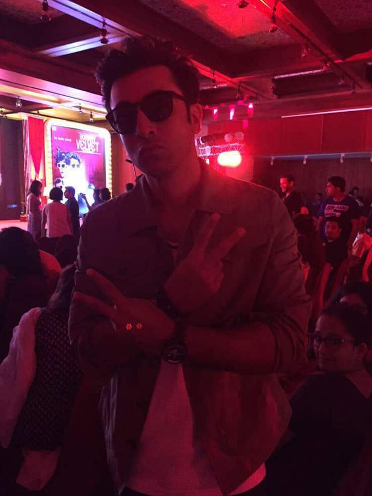 Ranbir Kapoor.:- Ranbir Kapoor in Goa to promote #BombayVelvet. -twitter