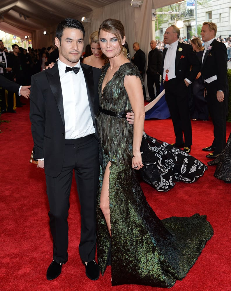 Designer Joseph Altuzarra and Keri Russell arrive at The Metropolitan Museum of Art's Costume Institute benefit gala celebrating 'China: Through the Looking Glass', in New York.