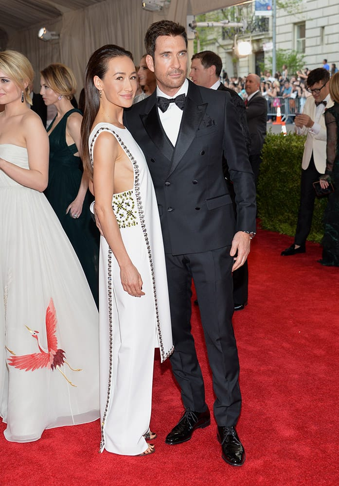 Maggie Q and Dylan McDermott arrive at The Metropolitan Museum of Art's Costume Institute benefit gala celebrating 'China: Through the Looking Glass', in New York.