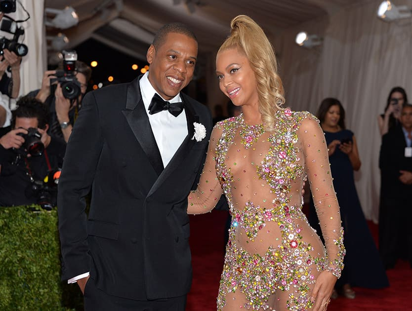 Jay-Z and Beyonce arrive at The Metropolitan Museum of Art's Costume Institute benefit gala celebrating 'China: Through the Looking Glass', in New York.