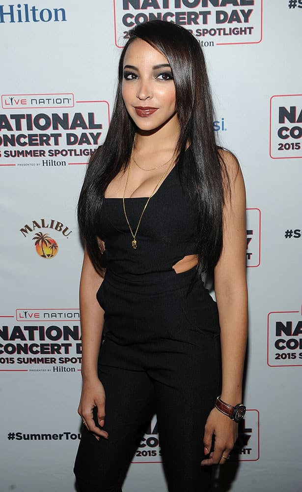 Musician Tinashe poses for a photo at National Concert Day in New York.