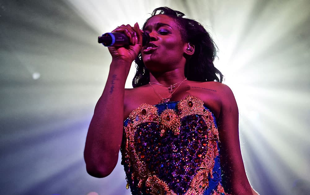 Azealia Banks performs in concert at Irving Plaza, in New York.