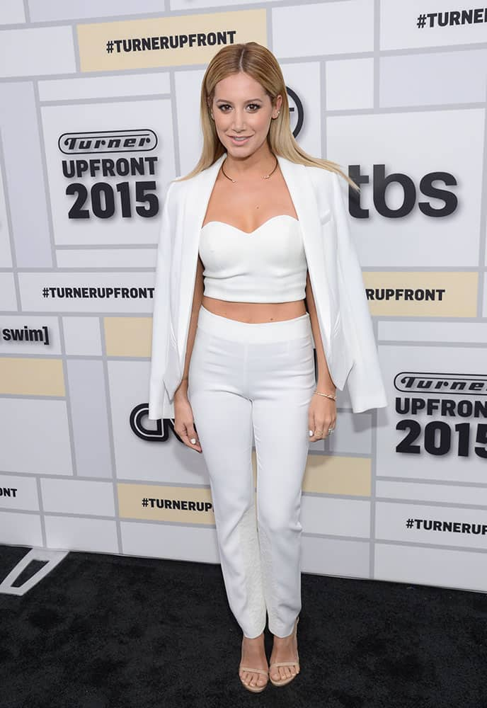 Actress Ashley Tisdale attends the Turner Network 2015 Upfront at Madison Square Garden.