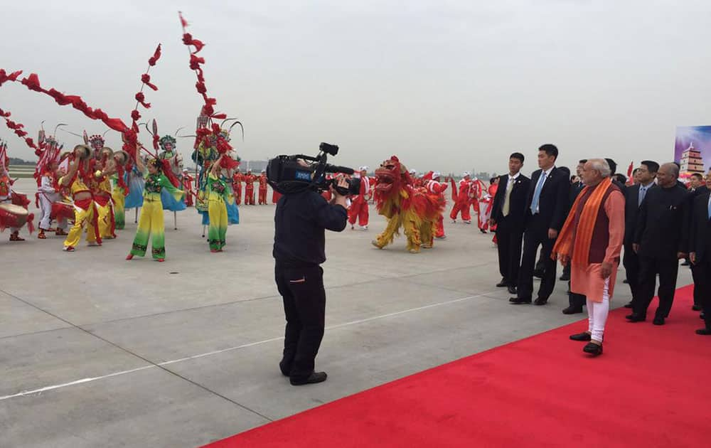 The Prime Minister reached China a short while ago.  -twitter